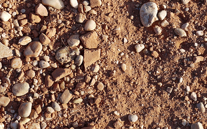 rock, gravel and material