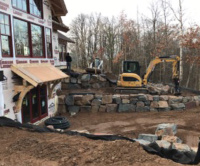 Installing Patio And Retaining Wall